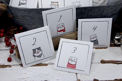 Calendrier de l'Avent | 24 enveloppes en papier | Calendrier de Noël réutilisable
