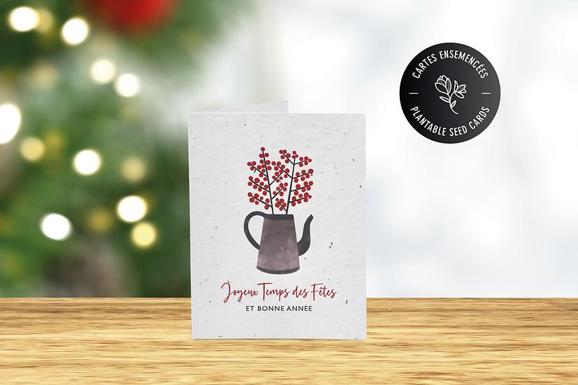 Carte de Noël à semer   Carte de voeux à planter   Branches