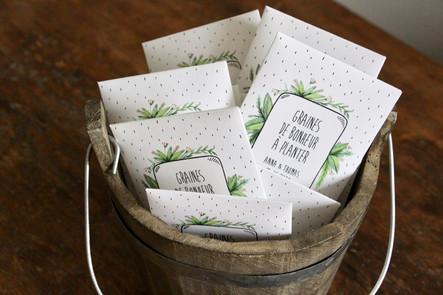 Sachets De Graines A Semer Cadeaux D Invites Mayline