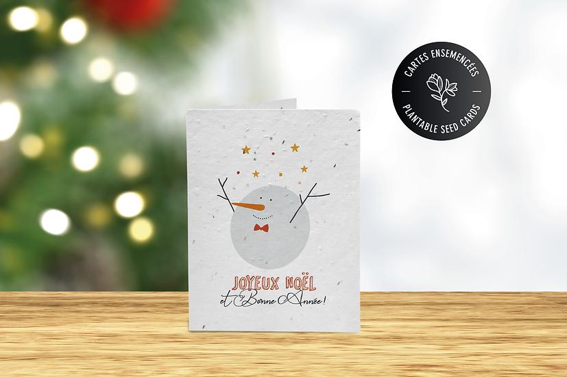 Carte de Noël à semer |Papier ensemencé
