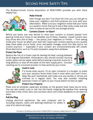 Second Home Safety Tips