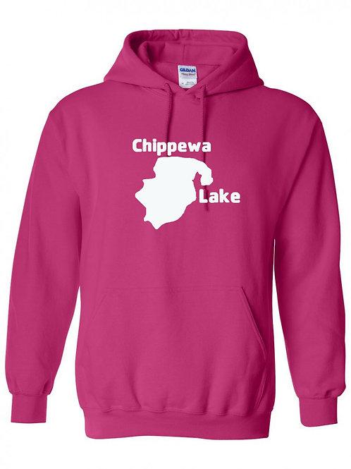 Chippewa Lake White Logo Hoodie