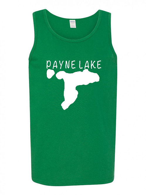 Payne Lake White Logo Men's Tank Top