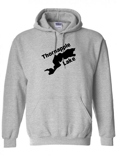 Thornapple Lake Black Logo Hoodie