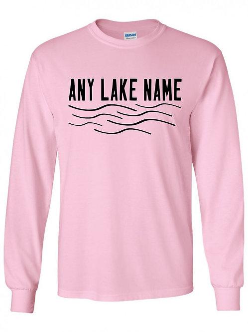 Any Lake Wave Logo Long Slevee