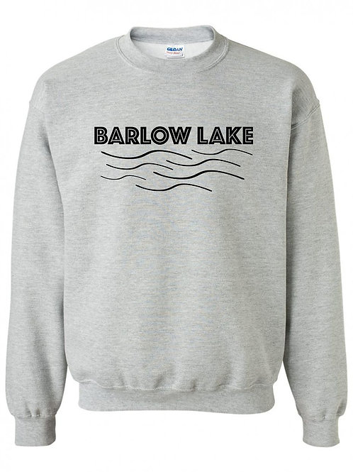 Barlow Lake Black Wave Youth Crewneck