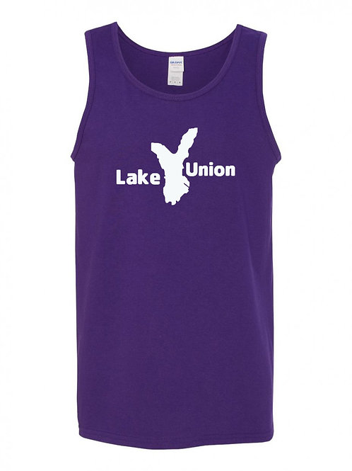 Lake Union White Logo Tank Top