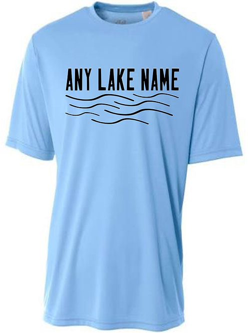 Any Lake Wave Logo Sun Tee