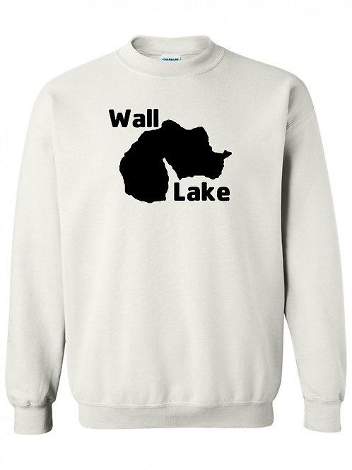 Wall Lake Black Logo Crewneck