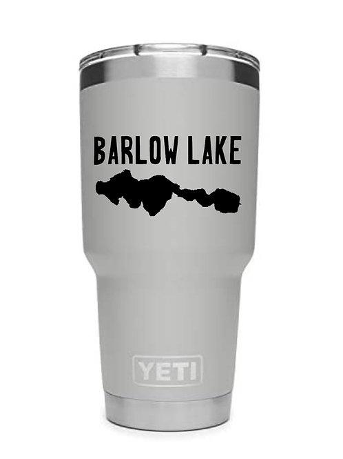 Barlow Lake YETI 30 oz Tumbler Black & White Logo