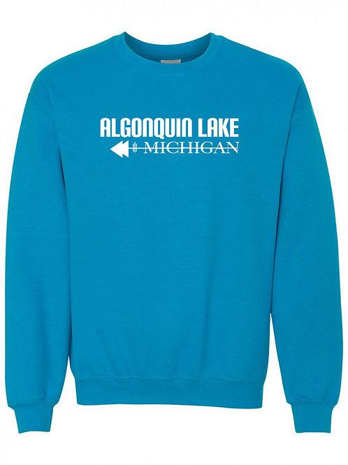 Algonquin Lake White Logo Crewneck