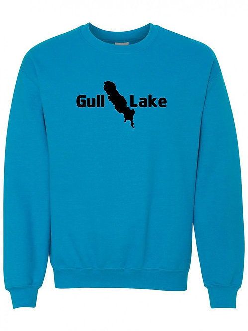 Gull Lake Black Logo Crewneck