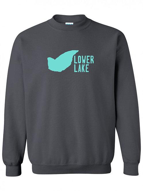 Lower Lake Teal Logo Crewneck