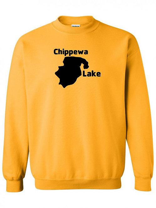 Chippewa Lake Black Logo Crewneck