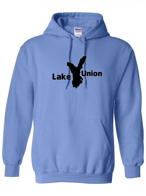 Lake Union Black Logo Hoodie