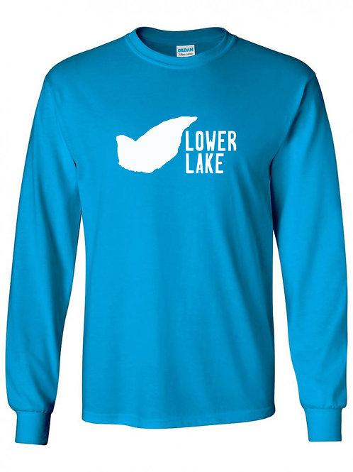 Lower Lake White Logo Long Sleeve