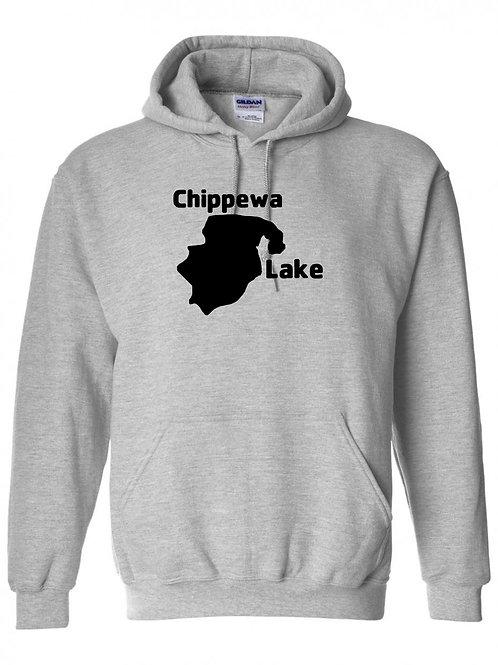 Chippewa Lake Black Logo Hoodie