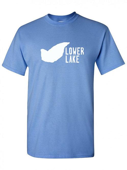 Lower Lake White Logo T-Shirt