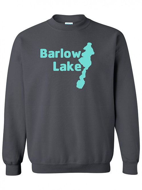 Teal Barlow Lake Logo Crewneck