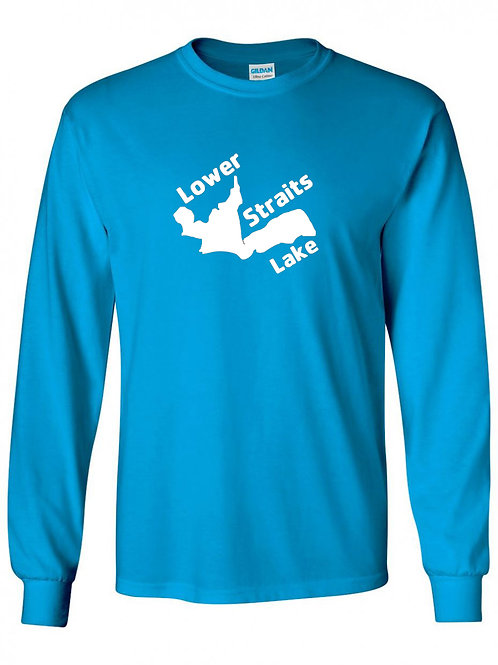 Lower Straits Lake White Logo Long Sleeve