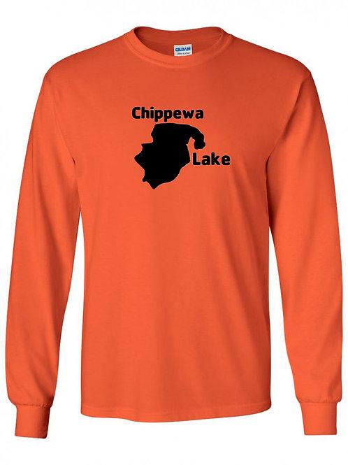 Chippewa Lake Black Logo Long Sleeve