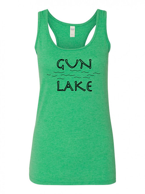 Gun Lake Black Wave Ladies Tank Top