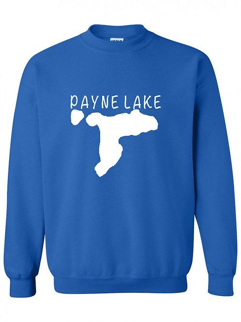 Payne Lake White Logo Youth Crewneck