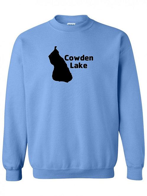 Cowden Lake Black Logo Crewneck