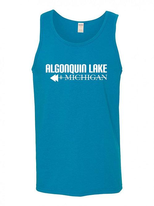 Algonquin Lake White Logo Men's Tank Top