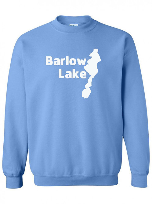 Barlow Lake White Logo Crewneck