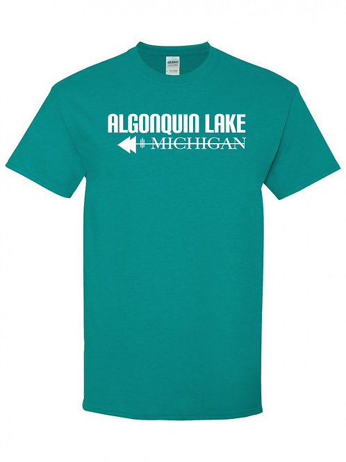 Algonquin Lake White Logo T-Shirt