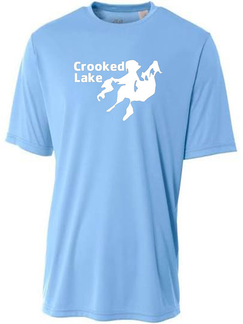 Crooked Lake White Logo Sun Tee
