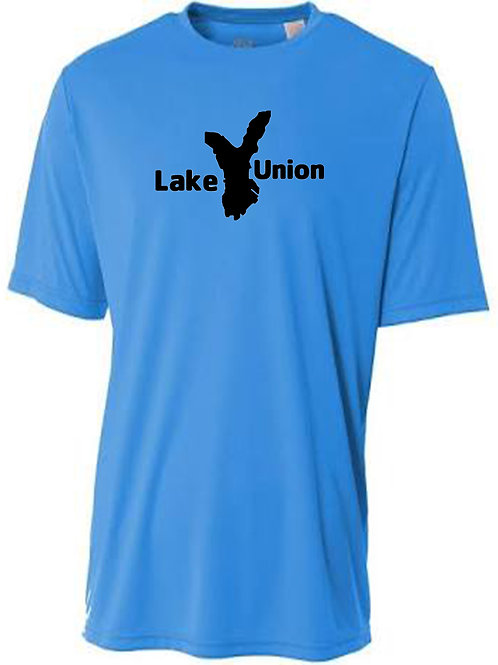 Lake Union Black Logo Sun Tee