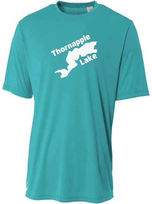 Thornapple Lake White Logo Sun Tee