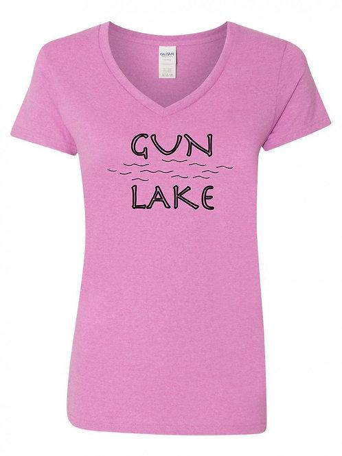 Gun Lake Black Wave V-Neck