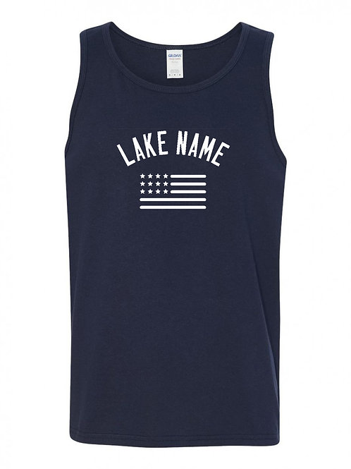Any Lake 4th of July Tank Top