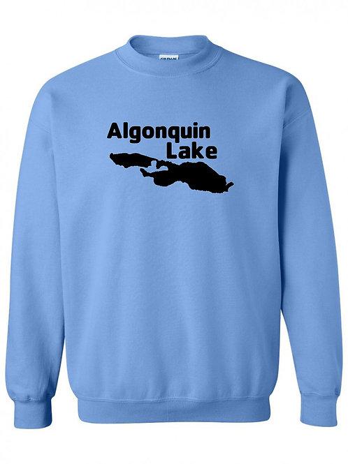 Algonquin Lake Black Logo Crewneck