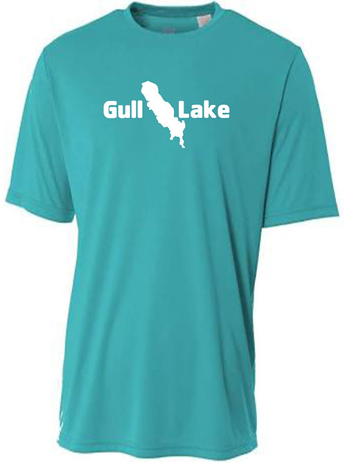 Gull Lake White Logo Sun Tee