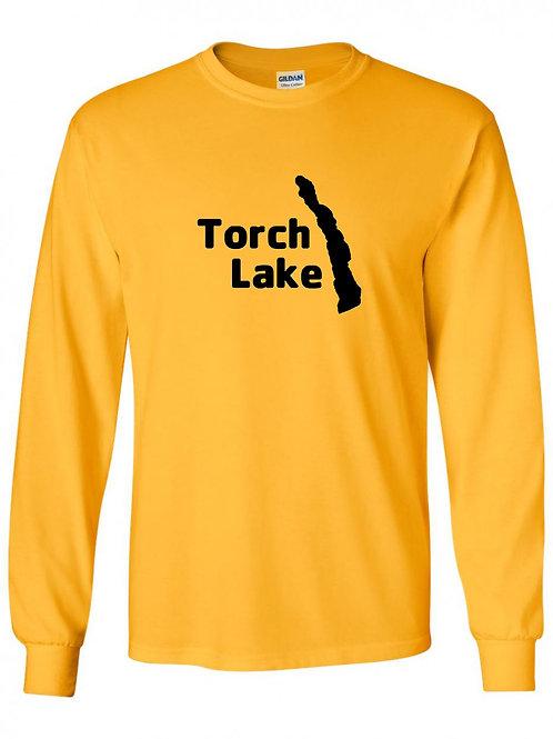 Torch Lake Black Logo Long Sleeve