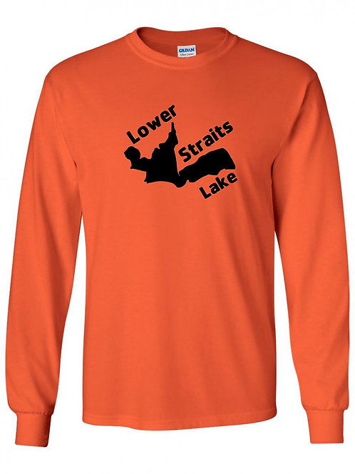 Lower Straits Lake Black Logo Long Sleeve