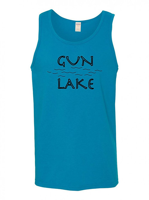 Gun Lake Black Wave Men's Tank Top