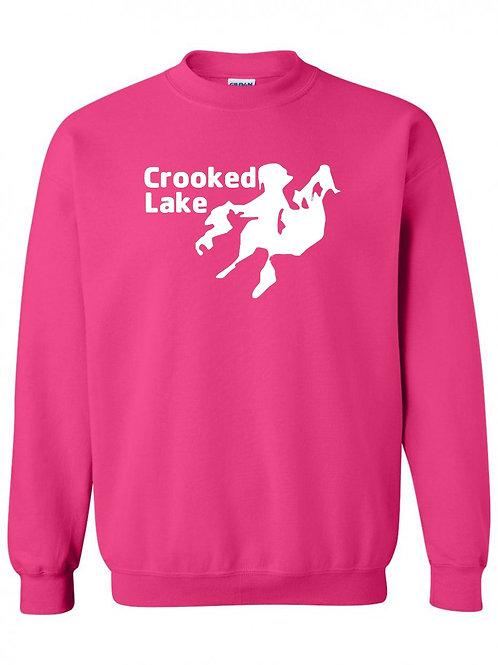 Crooked Lake White Logo Crewneck