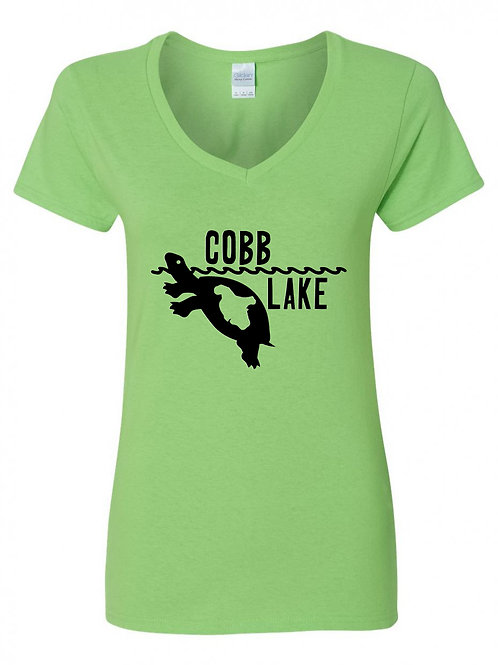 Turtle Cobb Lake V-Neck