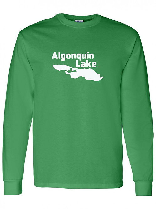 Algonquin Lake White Logo Long Sleeve