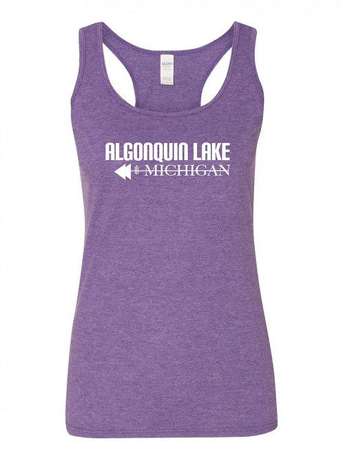 Algonquin Lake White Logo Ladies Tank Top