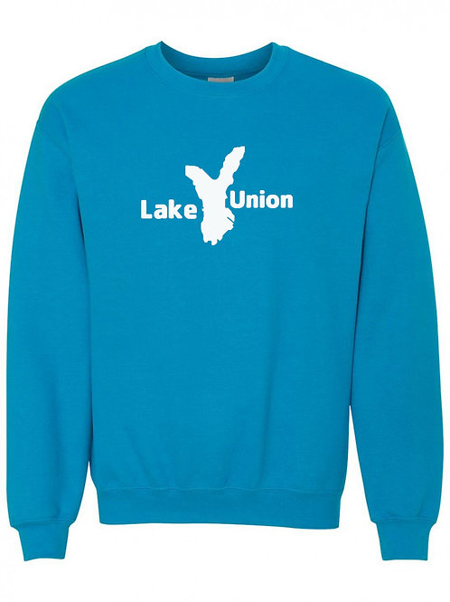 Lake Union White Logo Crewneck