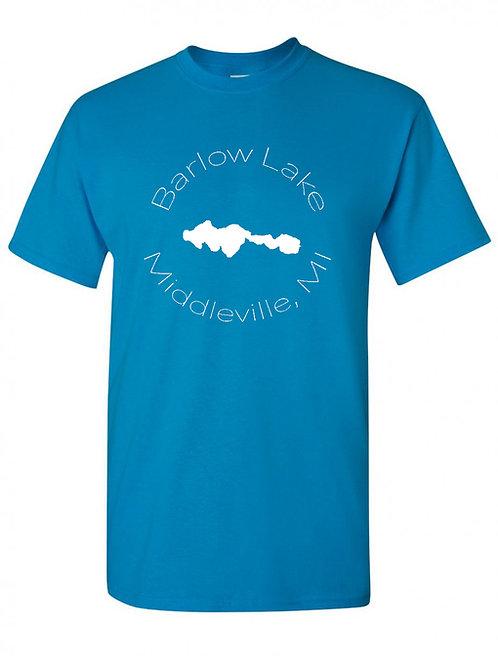 Barlow Lake White Circle T-Shirt