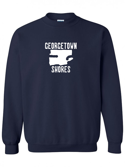 Georgetown Shores White Logo Crewneck