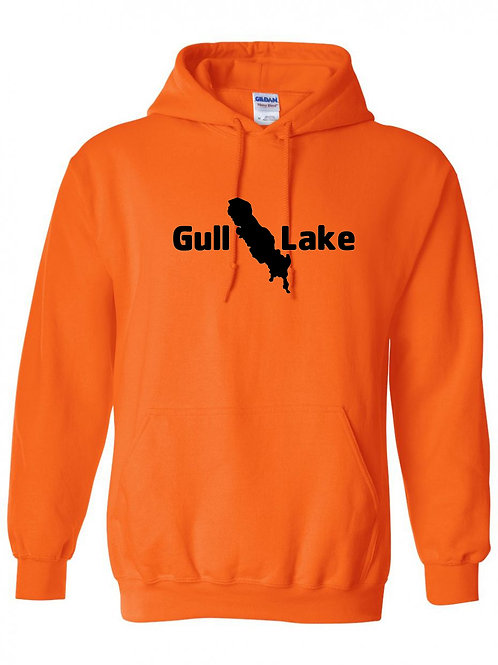 Gull Lake Black Logo Hoodie