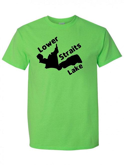 Lower Straits Lake Black Logo T-Shirt